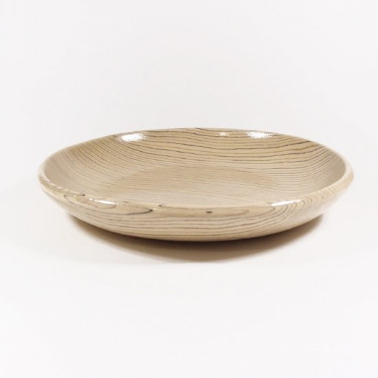 坂下花子|練り込み 丸皿 しじら