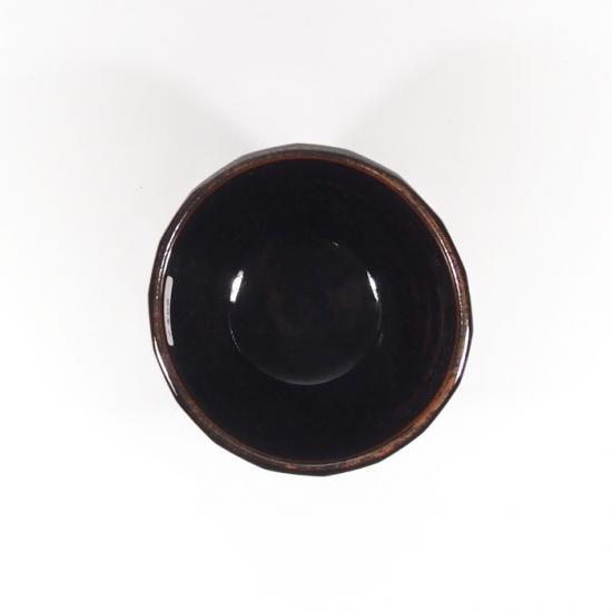 比呂|面取り 蕎麦猪口(茶)【笠間焼】