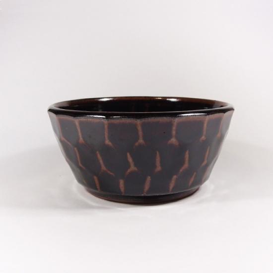 比呂|面取り 小鉢(茶)【笠間焼】