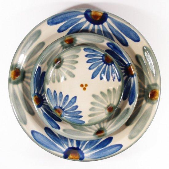 育陶園|皿3.5寸 菊紋 【やちむん・壺屋焼】
