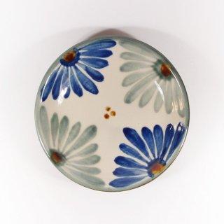 育陶園|皿5寸 菊紋 【やちむん・壺屋焼】