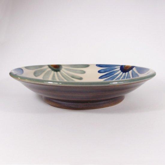 育陶園|皿7寸 菊紋 【やちむん・壺屋焼】