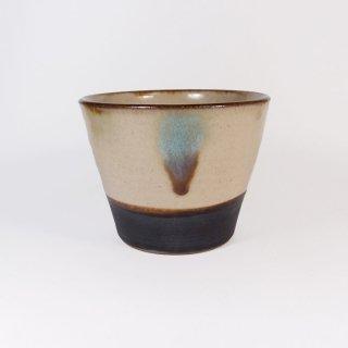 ノモ陶器製作所(野本周)|蕎麦猪口 緑釉(オーグスヤー) 【やちむん】