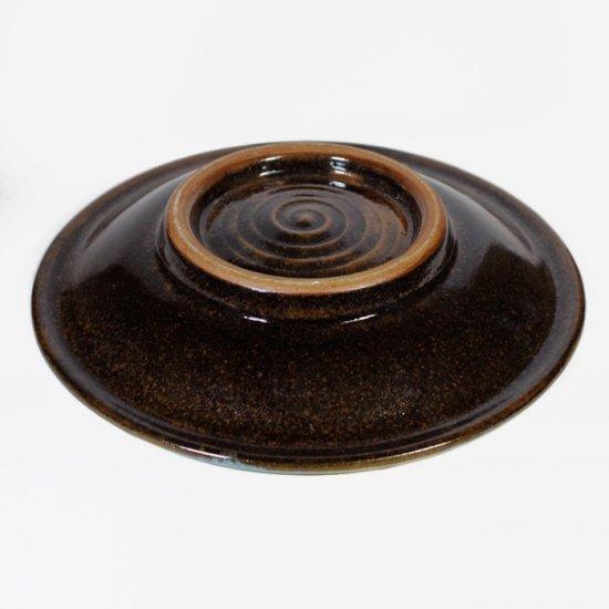 ノモ陶器製作所(野本周)|7寸皿 緑釉(オーグスヤー) 【やちむん】