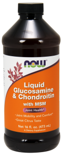 液体グルコサミン コンドロイチン + MSM リキッド シトラスフレーバー