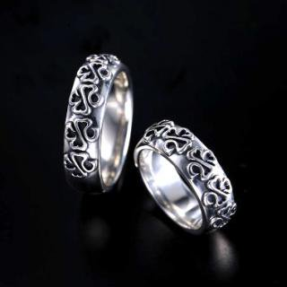 Five Shamrock Tribal Ring