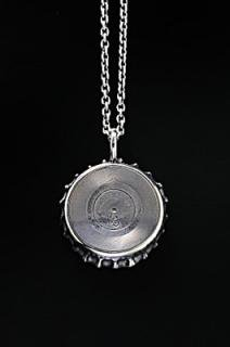 Bottle Cap Pendant   Record-Disk