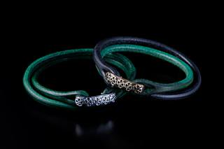 Tribal Shamrock Leather Bracelet