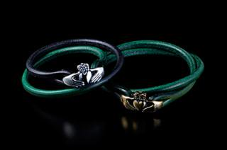 Claddagh Leather Bracelet