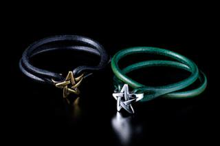 Celt Star Leather Bracelet