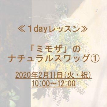 [レッスン]ミモザのナチュラルスワッグ(1) 2/11(火)10時