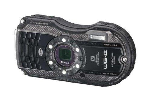 PENTAX 防水デジタルカメラ PENTAX WG-3 ブラック 1cmマクロ マクロスタンド付属 LEDライト PENTAX WG-3BK【中古…