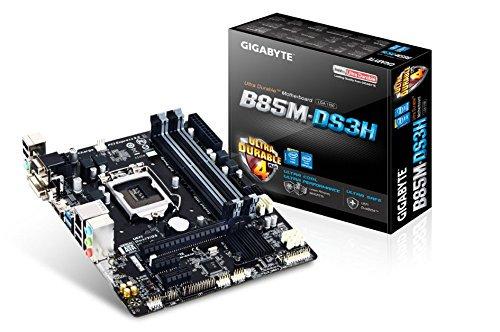 【N】GIGABYTE マザーボード Intel B85 LGA1150 Micro ATX GA-B85M-DS3H【中古品】