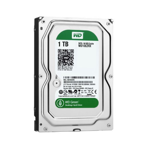 【N】WD 内蔵HDD Green 1TB 3.5inch SATA3.0(SATA 6 Gb/s) 64MB Intellipower 2年保証【中古品】