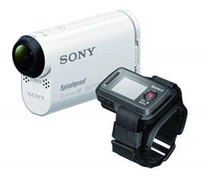 SONY ビデオカメラ アクションカム AS100VR ライブビューリモコンキット ウォータープルーフケース付【中古品】