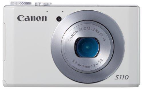 Canon デジタルカメラ PowerShot S110 約1210万画素 F2.0 光学5倍ズーム ホワイト 【!中古品!】