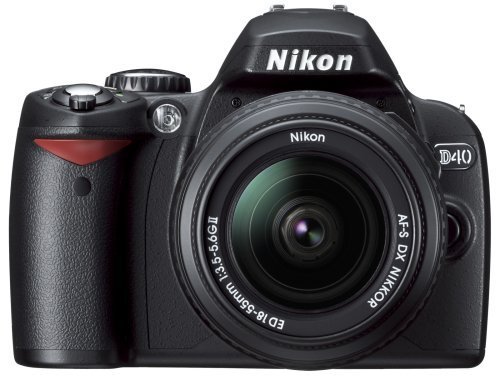 Nikon デジタル一眼レフカメラ D40 レンズキット ブラック D40BLK【!中古品!】