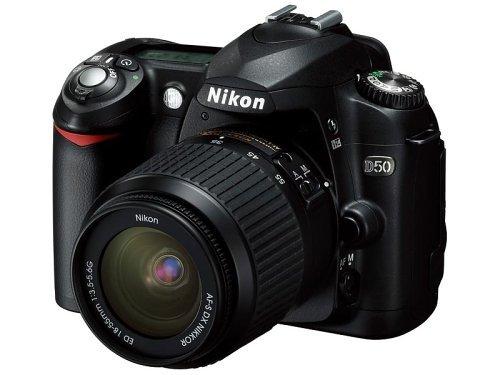 Nikon D50 ブラック デジタル一眼レフカメラ レンズキット〔AF-S DX ズームニッコール ED 18~55mm【中古品】