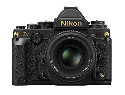 Nikon デジタル一眼レフカメラ Df 50mm f/1.8G Special Gold Editionキット ブラック【中古品】