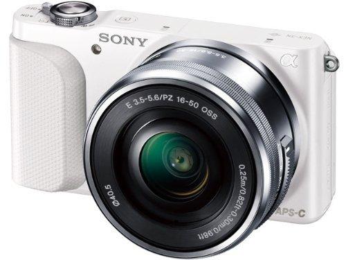 SONY ミラーレス一眼 NEX-3N パワーズームレンズキット E PZ 16-50mm F3.5-5.6 OSS付属 ホワイト NEX-3NL【!中古品!】