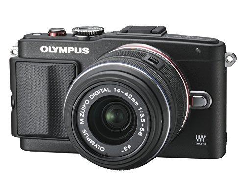 OLYMPUS ミラーレス一眼 PEN Lite E-PL6 レンズキット ブラック E-PL6 LKIT BLK【中古品】
