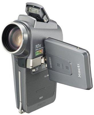 SANYO デジタルムービーカメラ Xacti チタングレー DMX-HD1(H)【中古品】