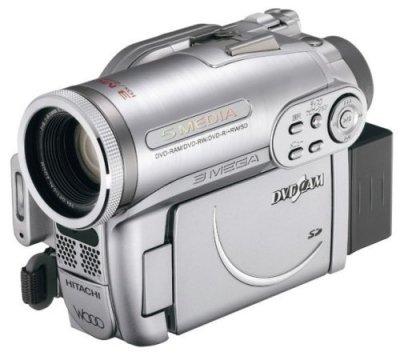HITACHI DVDビデオカメラ DVDカム Wooo プレミアムシルバー DZ-GX3300-S【中古品】