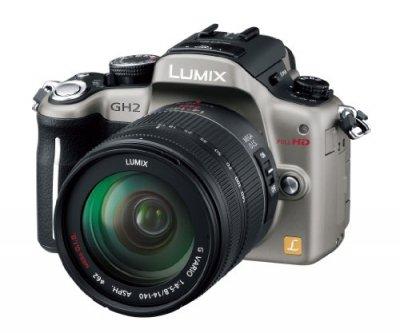 Panasonic デジタル一眼カメラ ルミックス GH2 レンズキット 高倍率ズームレンズ付属 シルバー【中古品】