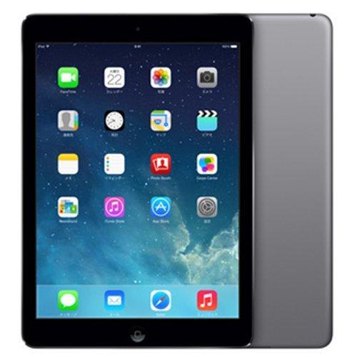 【N】アップル au iPadAir Wi-Fi Cellular 128GB スペースグレー 白ロム Apple【中古品】
