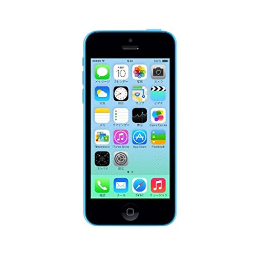 アップル docomo iPhone 5c 16GB ブルー ME543J/A 白ロム Apple【!中古品!】