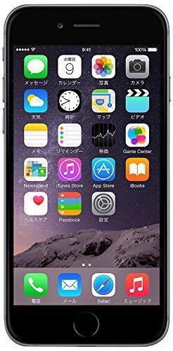 Apple docomo iPhone6 A1586 (MG4F2J/A) 64GB スペースグレイ【!中古品!】