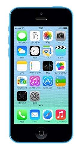 au iPhone 5c 16GB ブルー ME543J/A 白ロム Apple【!中古品!】