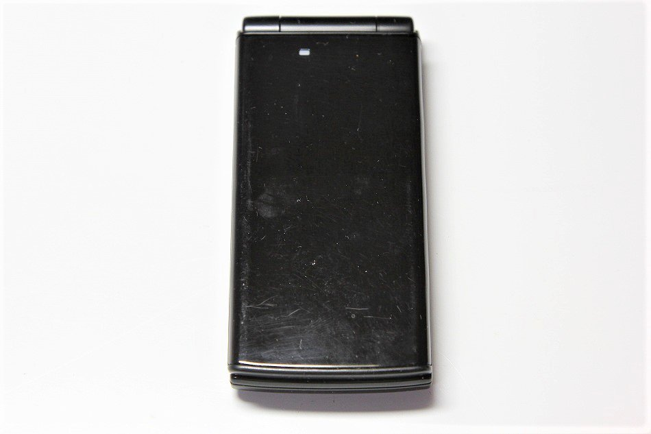 S#【中古】E10K ブラック 携帯電話 白ロム au