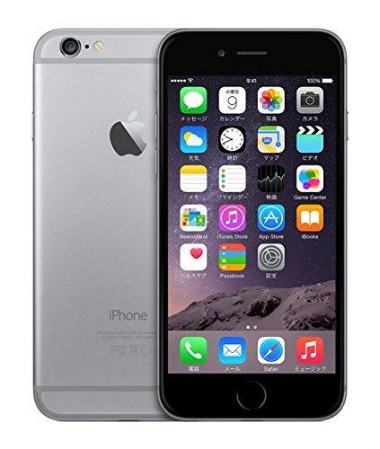 S#【中古】docomo版 iPhone 6 64GB スペースグレー 白ロム Apple 4.7インチ