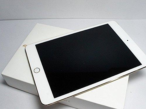S#【中古】au iPad mini4 Wi-Fi+Cellular 16GB Gold MK712J/A 白ロム