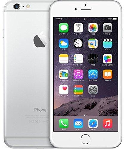 S#【中古】docomo版 iPhone 6 Plus 64GB シルバー 白ロム Apple 5.5インチ