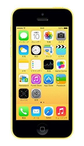 S#【中古】Apple iPhone 5c 32GB イエロー 【softbank 白ロム】MF150J