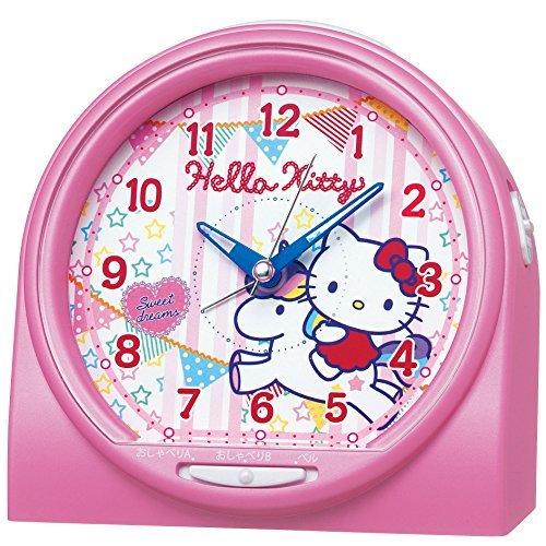S#【新品】SEIKO CLOCK(セイコークロック) ハローキティ おしゃべり目ざまし時計アラーム音切替タイプ(ピンクパール塗装) CQ13…