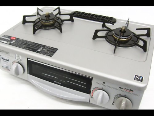 B#【中古】Rinnai リンナイ RTS-338WNTS-L ガスコンロ 都市ガス12A/13A Siセンサー搭載