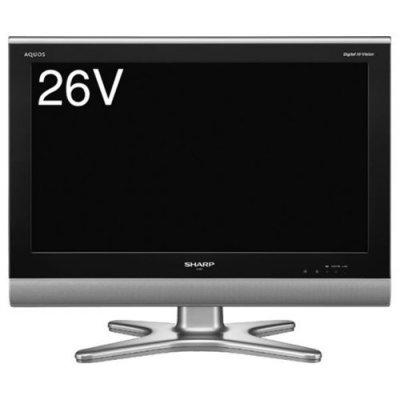 SHARP 26V型 ハイビジョン 液晶テレビ AQUOS LC-26E5-B ブラック【中古品】