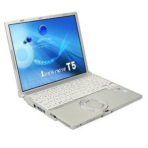 B#【中古】ノートパソコン Panasonic CF-T5 Core2Duo 1.06GHz RAM1536MB HDD80GB 12.1型液晶 WinXP