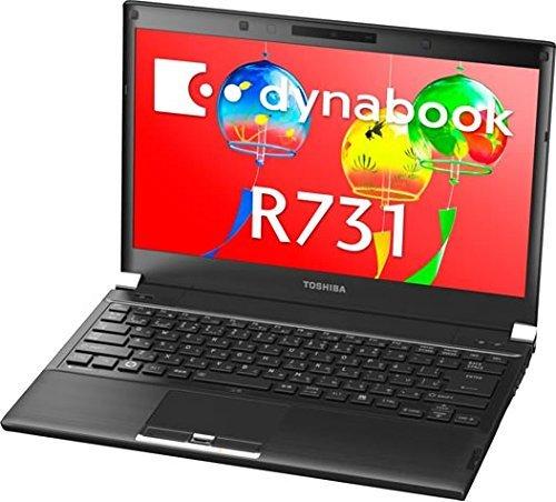 B#【中古】ダイナブック dynabook R731/D PR731DAANRBA51 / Core i5 2520M(2.5GHz) / HDD:250GB / 13.3インチ / ブラ…