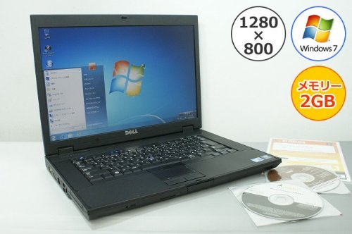 B#【中古】Dell 【パソコン】ノートパソコン DELL Latitude E5500 Core2Duo-2.53GHz 2GB 160GB DVDスーパーマルチ Windows7搭載 15.…