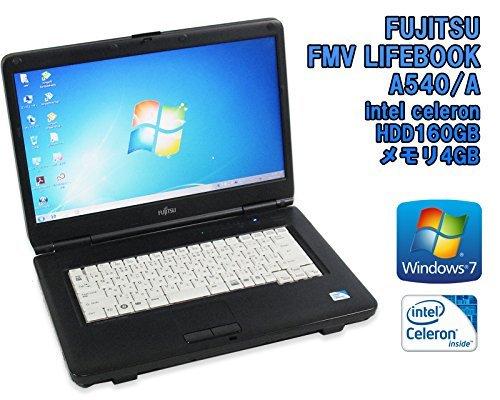 B#【中古】【ノートパソコン】富士通 FMV LIFEBOOK A540/A 15.6インチ Windows7 celeron 900 2.20GHz メモリ4GB HDD160GB■安心の90…