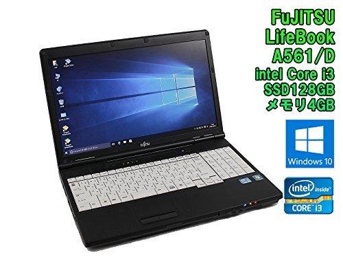 B#【中古】【Windows10モデル! SSD搭載! ノートパソコン】富士通 LIFEBOOK A561/D Windows10 15.6インチ Core i3 2330M 2.20GHz メ…