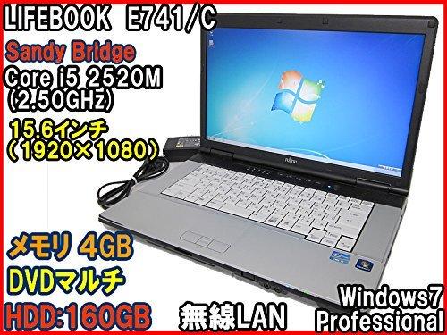 B#【中古】ノートパソコン富士通 LIFEBOOK E741/C Core i5 2520M(2.5GHz) 15.6液晶(フルHD) メモリ4GB DVDマルチ 無線LAN Win7P…