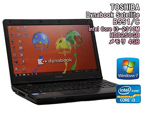 B#【中古】【ノートパソコン】TOSHIBA Dynabook Satellite B551/C Windows7 15.6インチ Core i3-2310M 2.1GHz メモリ4…