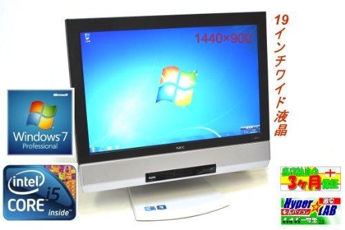 B#【中古】パソコン NEC 液晶一体型 PC-MK26TGFCC Windows7 Core i5 480M 2.66GHz メモリ2GB HDD 250GB