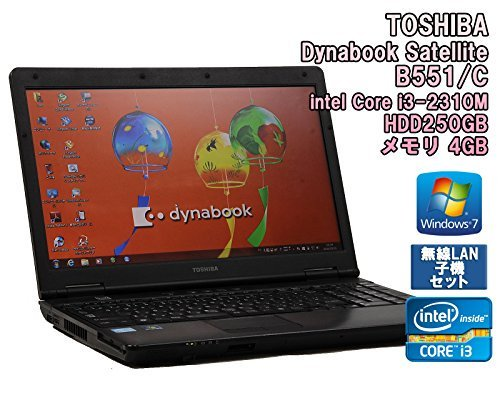 B#【中古】【無線LAN子機セット!◆ノートパソコン】TOSHIBA Dynabook Satellite B551/C Windows7 15.6インチ Core i3-2310M 2.1G…