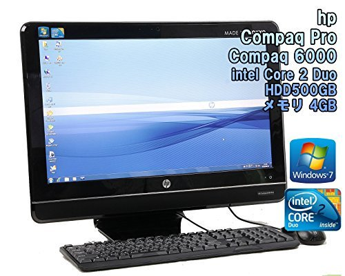 B#【中古】【一体型パソコン】HP compaq 6000 pro Aio Business PC Windows7 Core 2 Duo 3.17GHz メモリ4GB HDD500…